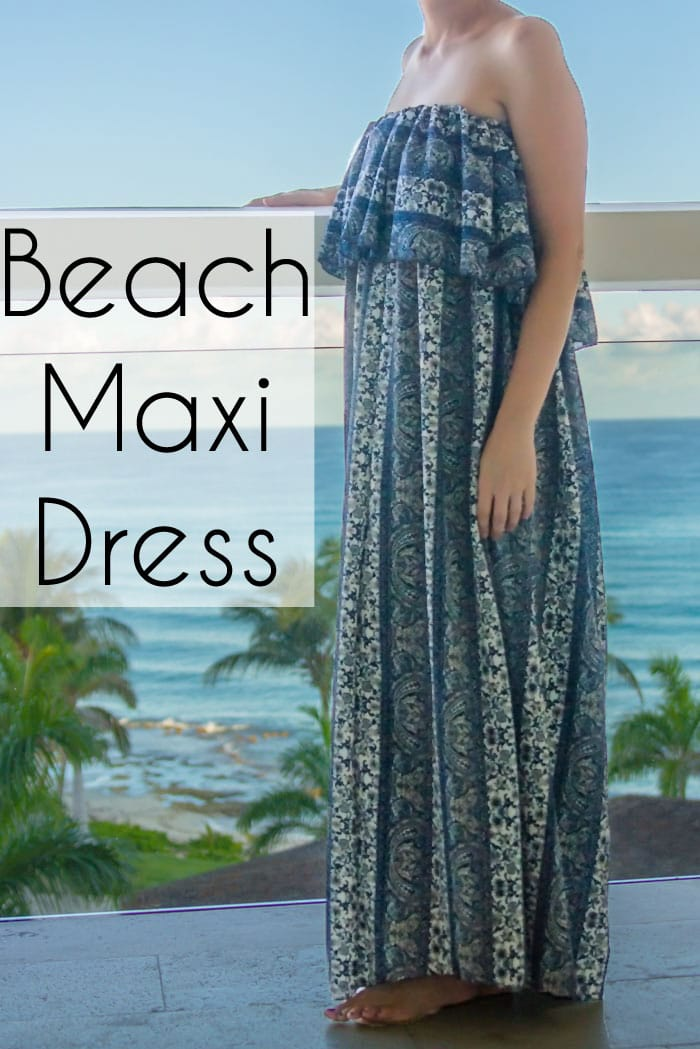 Ruffled Maxi Dress Beach Cover Up - So Simple to Sew - Melly Sews