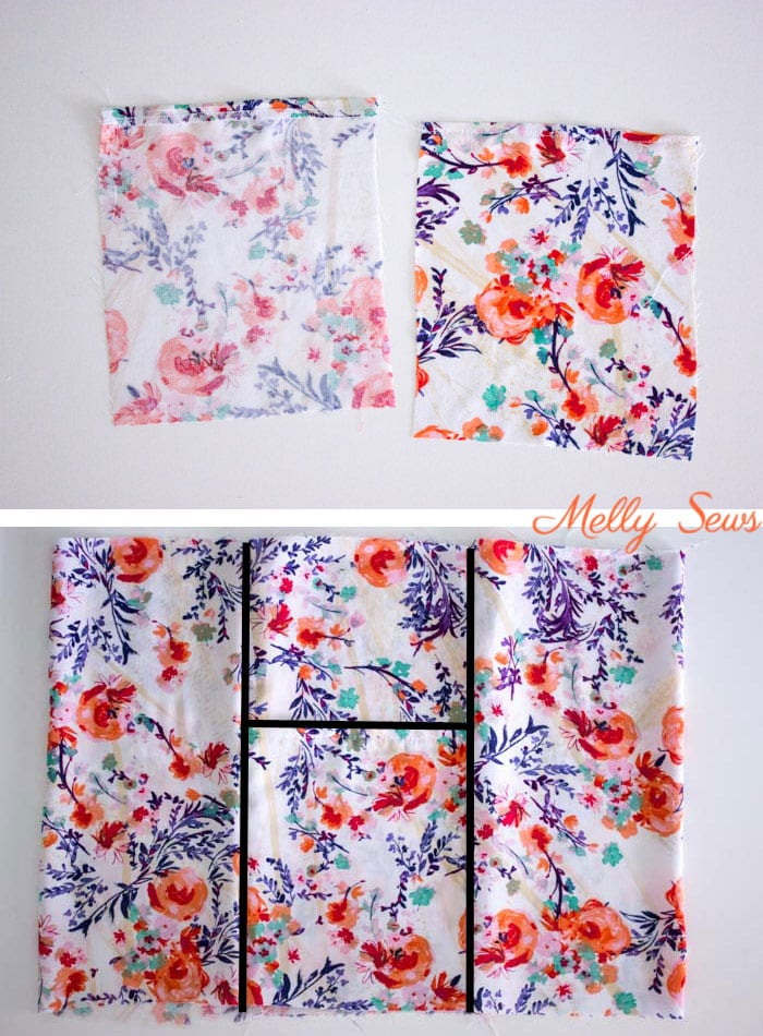 Step 1 - Sew a dropped waist floral sundress with big pockets - tutorial and pattern by Melly Sews