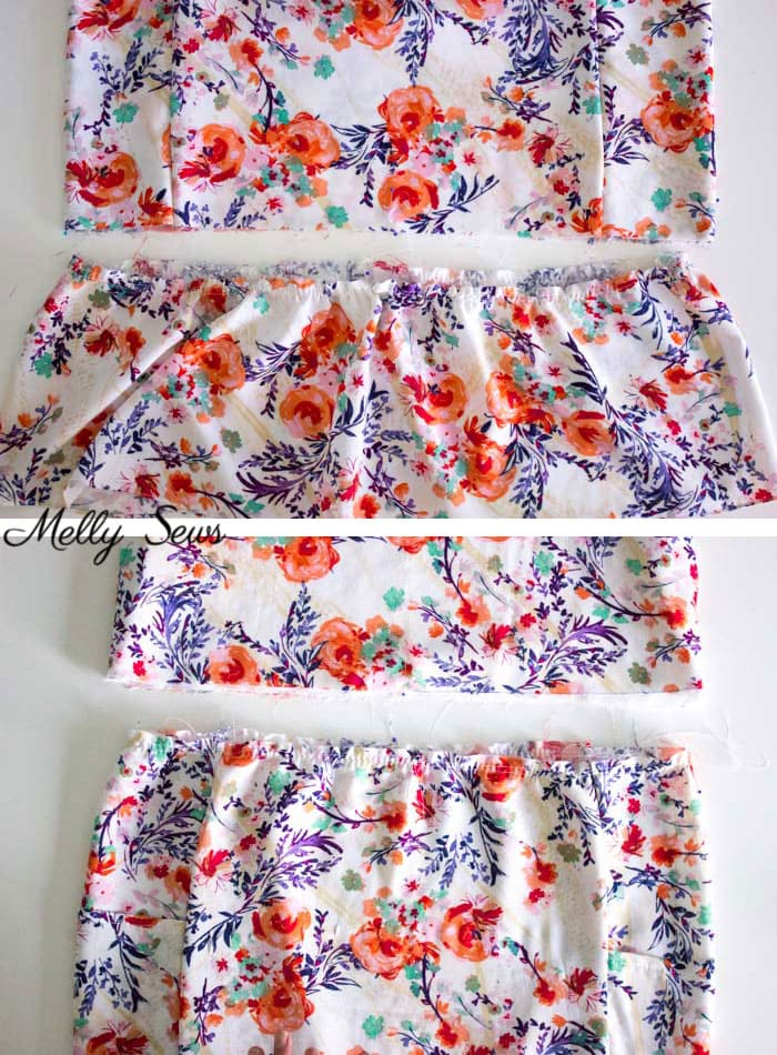 Step 2 - Sew a dropped waist floral sundress with big pockets - tutorial and pattern by Melly Sews