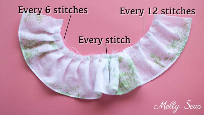 Compare Ruffle Foot Settings - How to use a ruffle foot to make ruffles - how to sew ruffles - Melly Sews