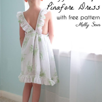 Ruffle Strap Pinafore Dress with Free Pattern