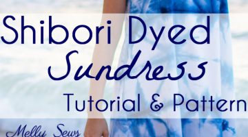 Shibori Dyed Sundress – How To Indigo Dye