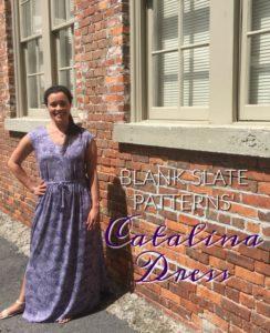 Catalina Dress sewing pattern by Blank Slate Patterns sewn by Inside The Hem
