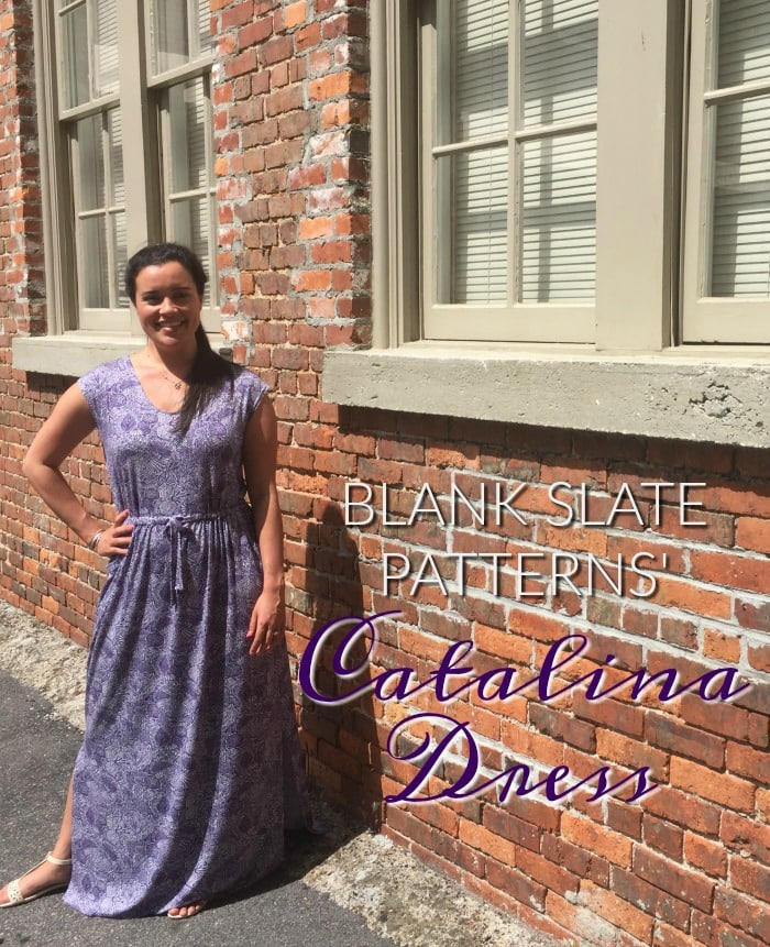 Catalina Dress sewing pattern by Blank Slate Patterns sewn by Inside The Hem