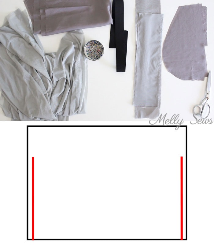 Step 1 - How to Sew a Maxi Skirt - How to Sew a Flat Front Skirt - How to Sew a Lined Skirt - Combine techniques for this casual skirt tutorial by Melly Sews