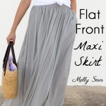 How to Sew a Maxi Skirt - How to Sew a Flat Front Skirt - How to Sew a Lined Skirt - Combine techniques for this casual skirt tutorial by Melly Sews