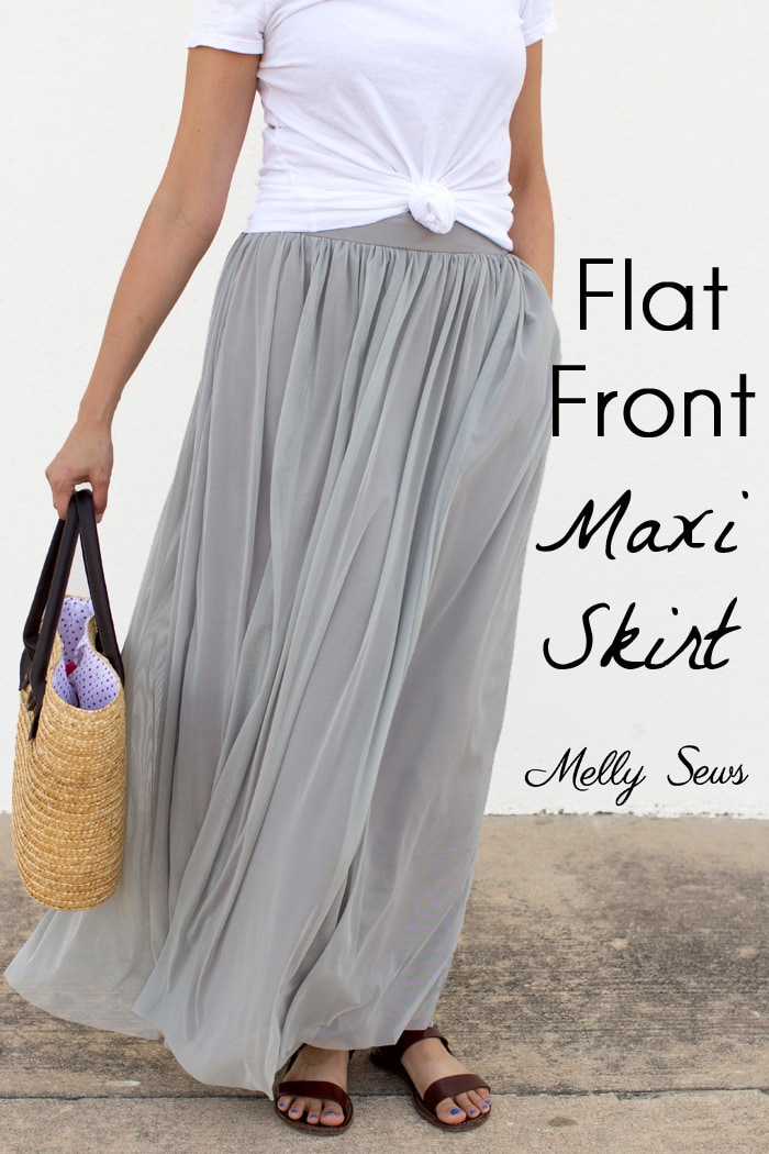 How to Sew a Maxi Skirt - Melly Sews