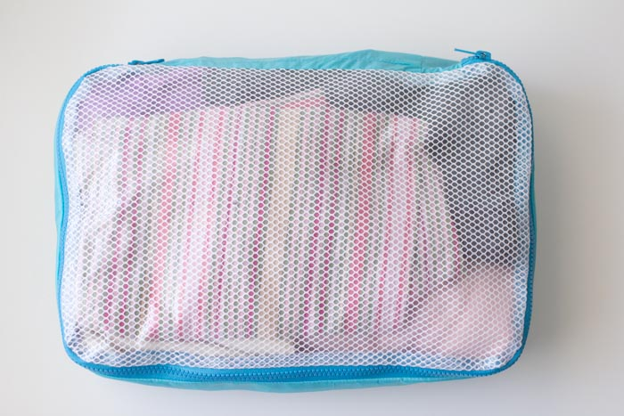 How to sew and use packing cubes - Melly Sews