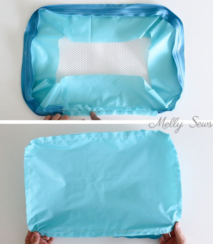 Step 4 - How to sew and use packing cubes - Melly Sews