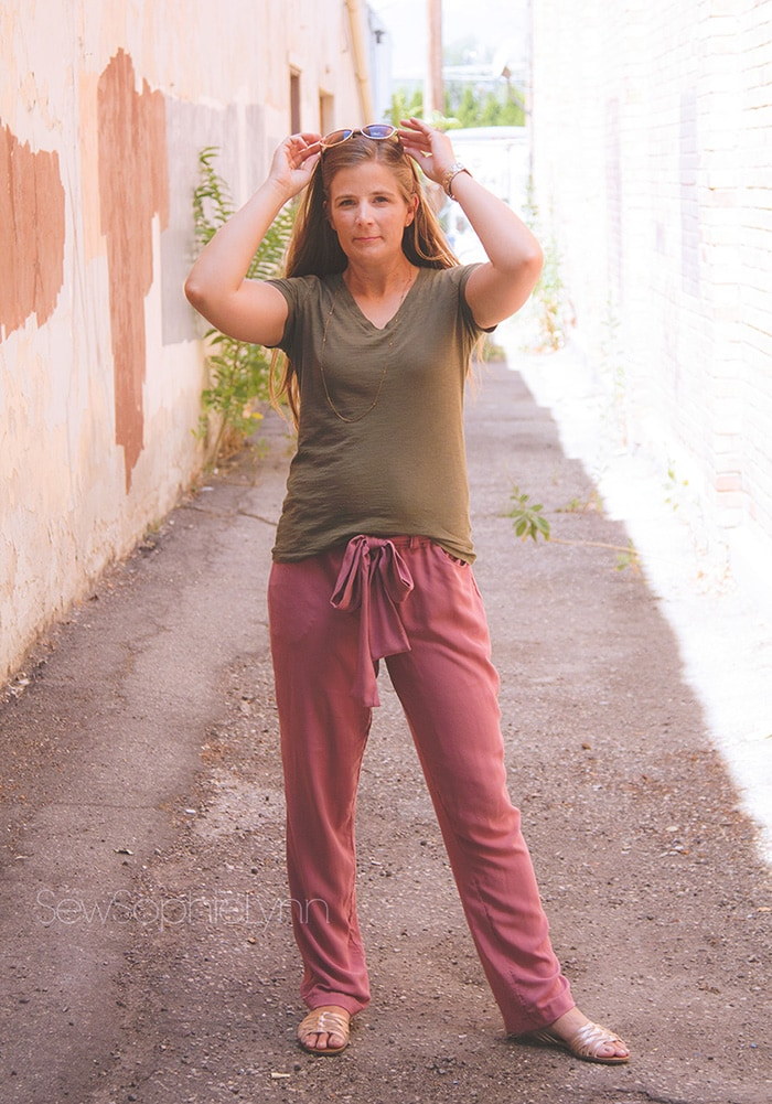 Forsythe Trouser by Blank Slate Patterns sewn by SewSophieLynn