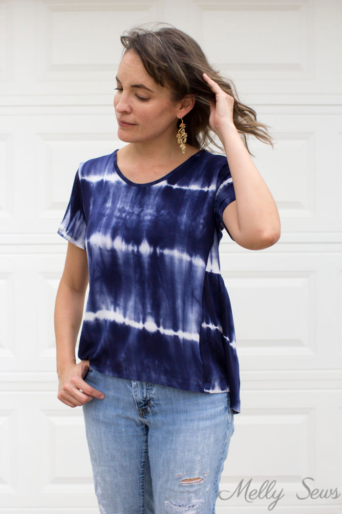 Sew a swing t-shirt - anthro hack tutorial by Melly Sews