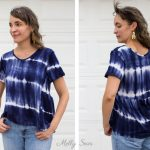 Add a gathered back panel - Sew a swing t-shirt - anthro hack tutorial by Melly Sews