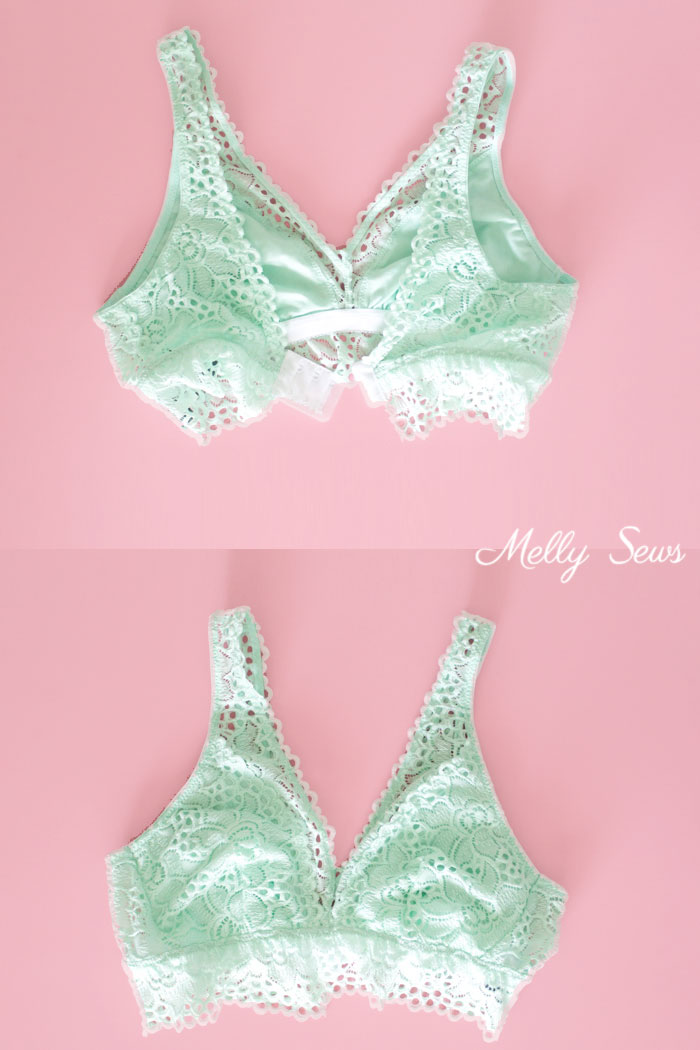 This is genius! How to Make a Ready Made Bralette Fit Better - Bralettes for Larger Cup Sizes - Melly Sews