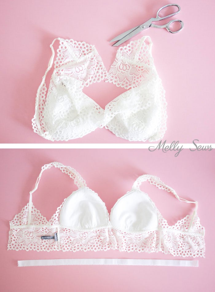 Step 1 - How to Make a Ready Made Bralette Fit Better - Bralettes for Larger Cup Sizes - Melly Sews