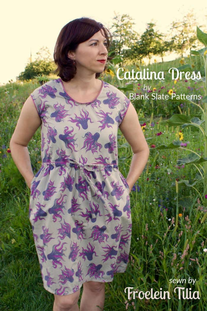 Catalina Dress by Blank Slate Patterns sewn by Froelein Tilia