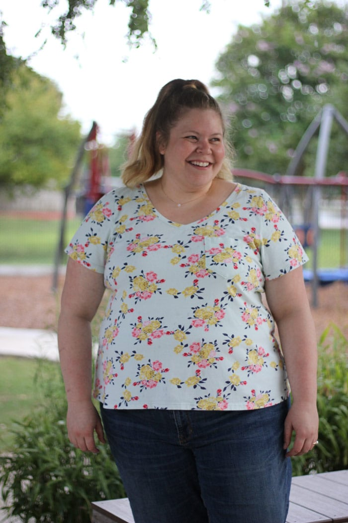 Austin Tee sewing pattern from Blank Slate Patterns sewn by moonthirty