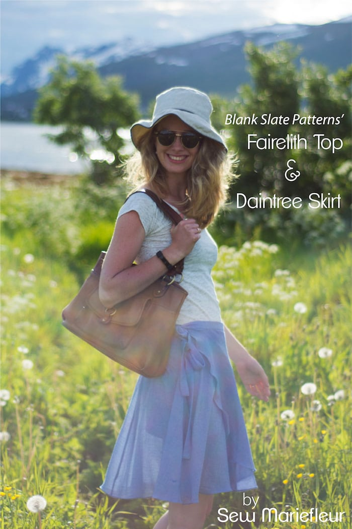Daintree Skirt and Fairelith Top sewing patterns from Blank Slate Patterns - sewn by Sew Mariefleur