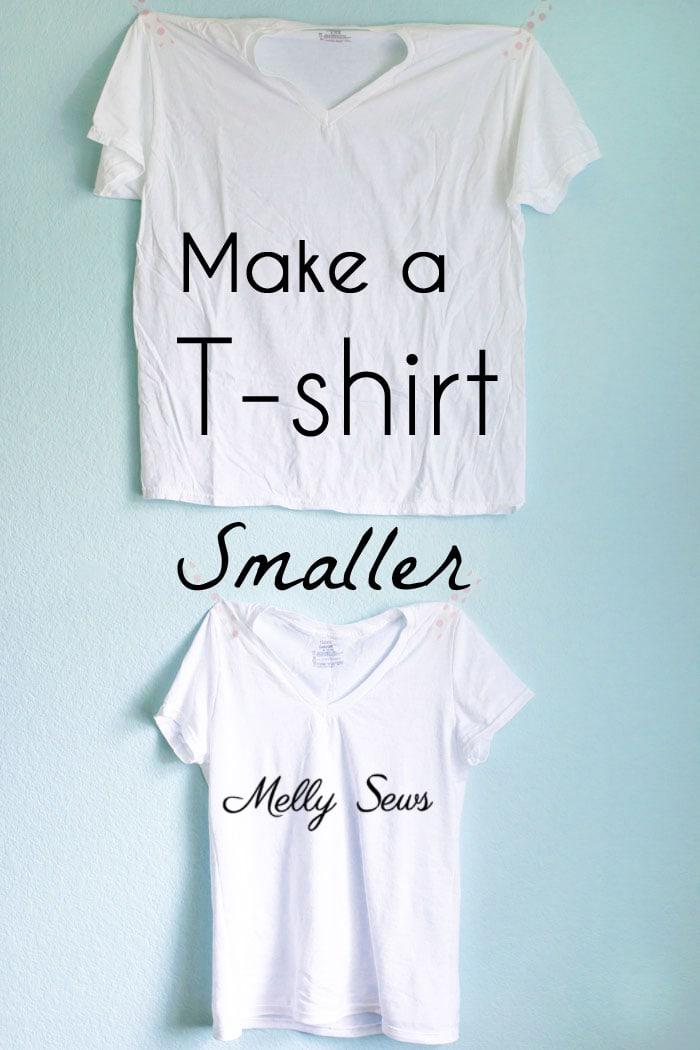 how to make a big shirt smaller