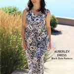 Auberley dress sewing pattern by Blank Slate Patterns sewn by Margo of Creating In The Gap