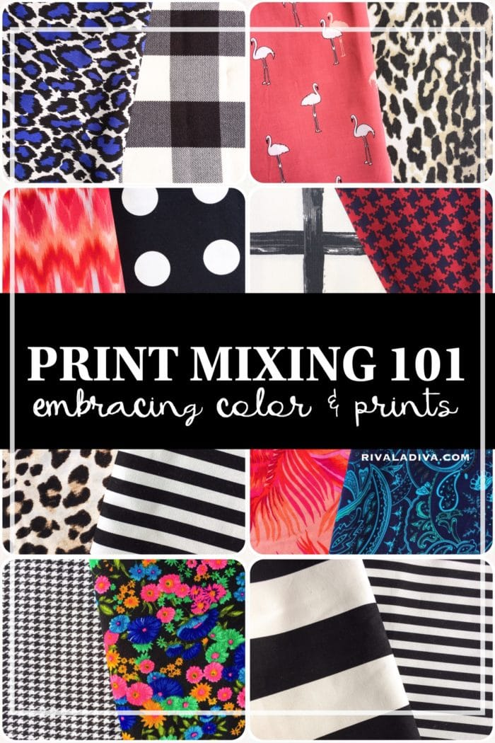 Mixing Prints like a Pro - Riva la Diva / Melly Sews