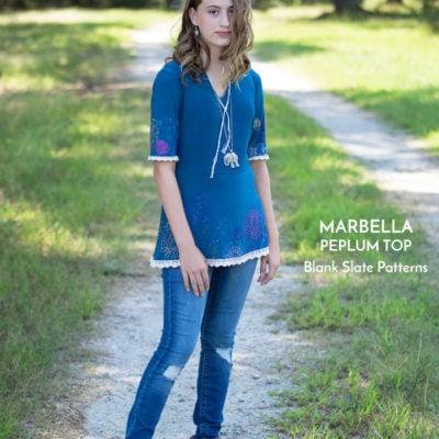 Custom Printed Marbella with Crystal