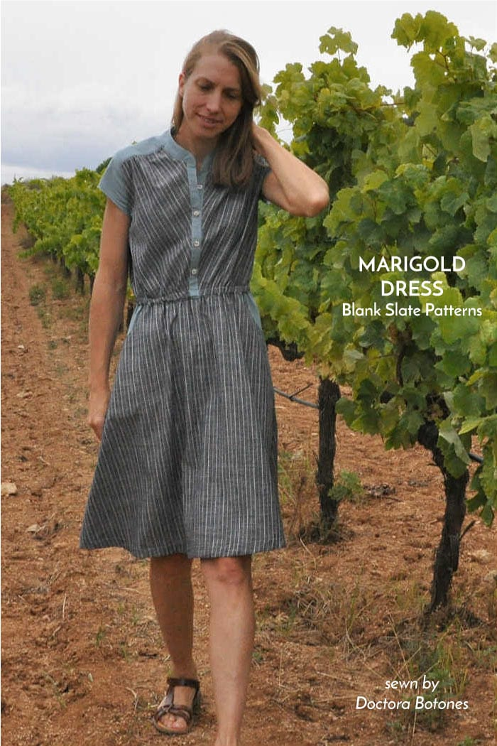 Marigold Dress sewing pattern by Blank Slate Patterns sewn by Stephanie (Doctora Botones)