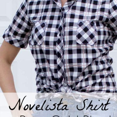 Novelista Shirt in Yes Please Rose Gold Plaid
