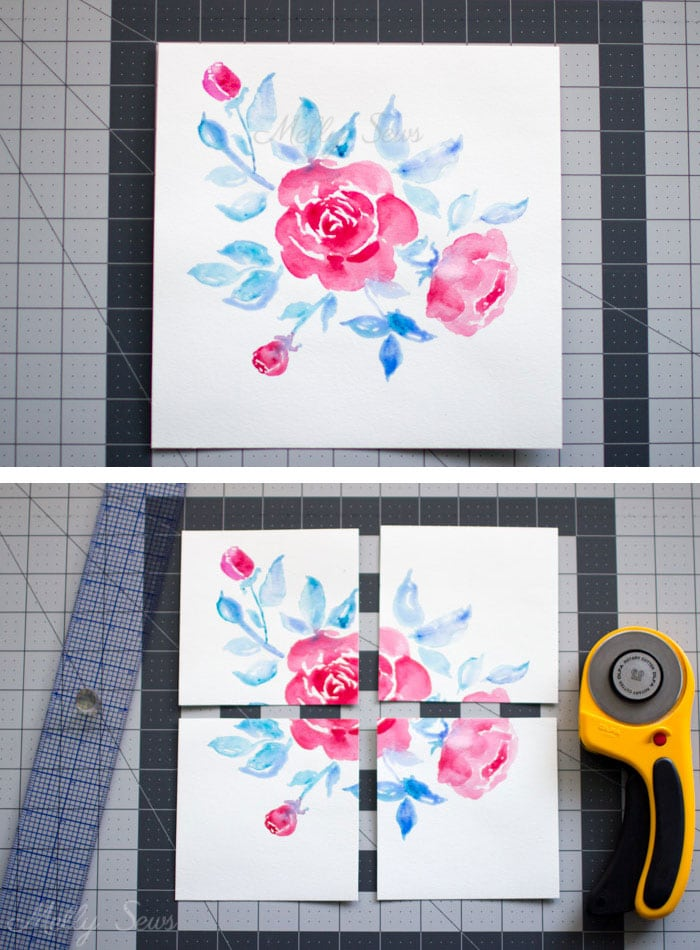 Step 1 - How to Make Pattern Repeats - Tutorial for Making Fabric Prints - Melly Sews