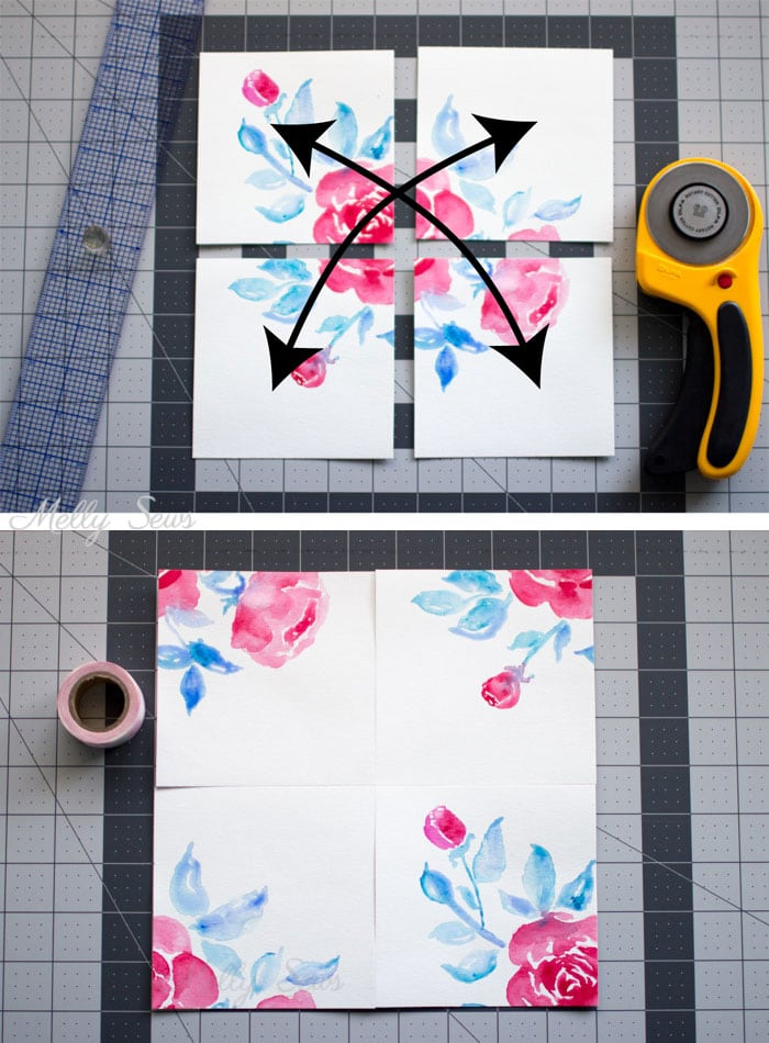 Step 2 - How to Make Pattern Repeats - Tutorial for Making Fabric Print Repeat - Melly Sews