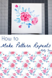 How to Make Pattern Repeats - Tutorial for Making Fabric Prints - Melly Sews