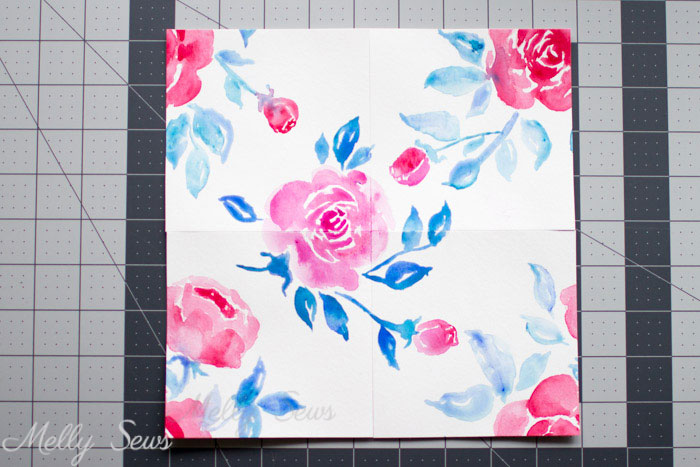 Step 3 - How to Make Pattern Repeats - Tutorial for Making Fabric Prints - Melly Sews