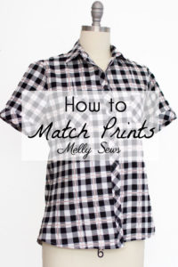 How to Match Prints - How to match plaids for sewing - How to Match Stripes - Tutorial by Melly Sews