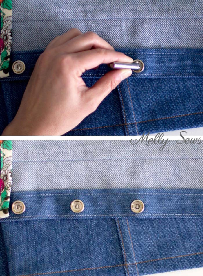 Step 3- How to Set Snaps - Heavy Duty Snap Setting Instructions - Tutorial with Video from Melly Sews