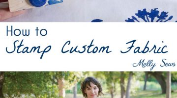 How to Make Custom Fabric – Stamp Fabric
