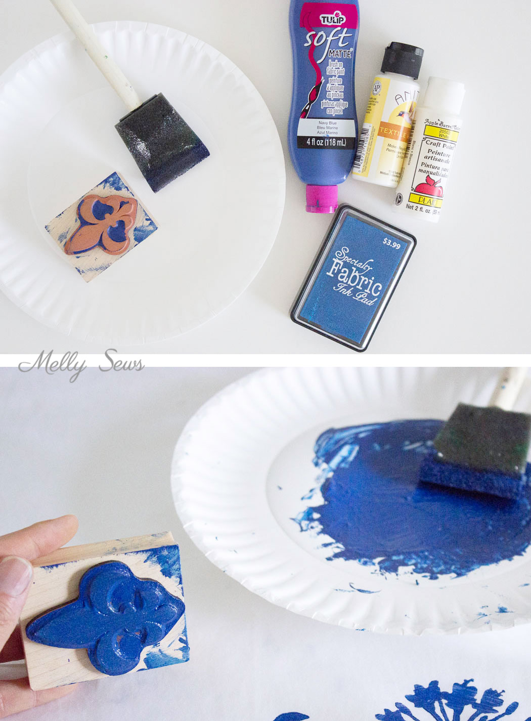 How To Make Custom Fabric Stamp Fabric Melly Sews