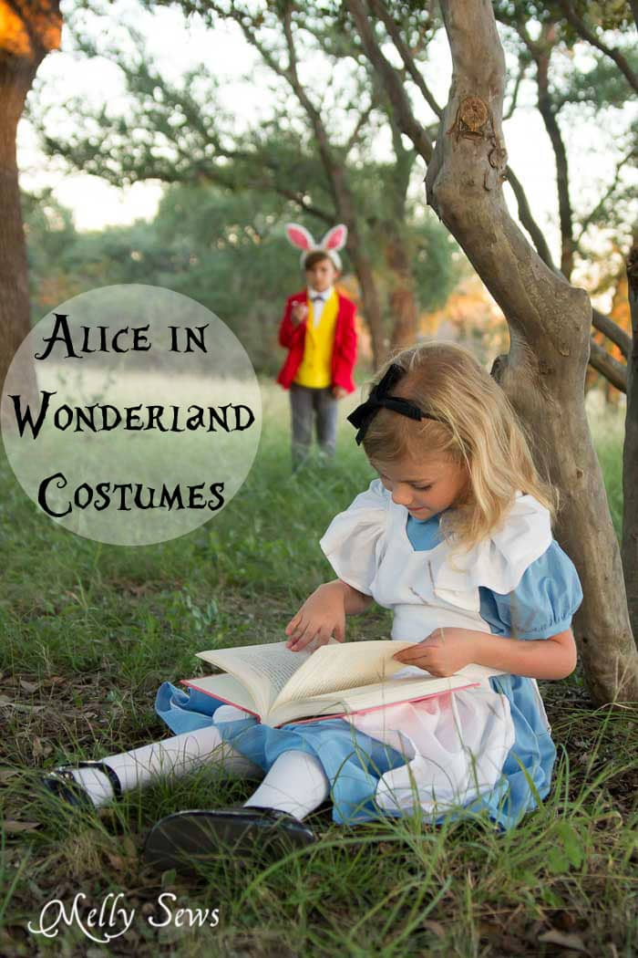 How to Make Alice in Wonderland Costumes - Sew Wonderland Costumes - DIY Alice in Wonderland costume - Melly Sews