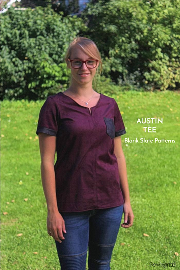 Austin T-shirt Sewing pattern by Blank Slate Patterns sewn by SewIngridd