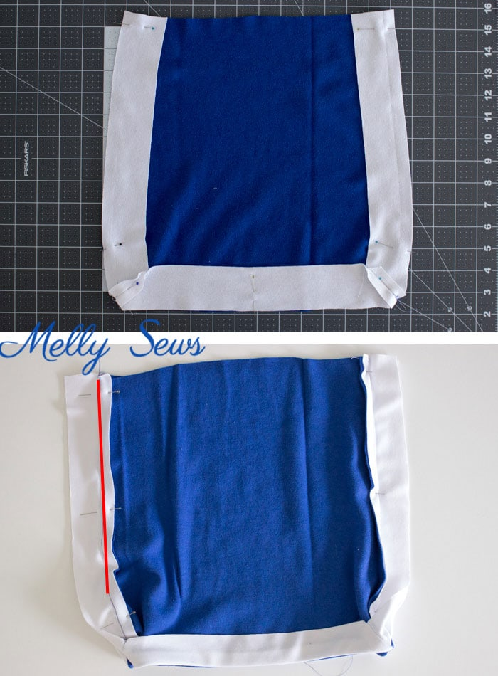 Skirt - Cheerleader Costume - DIY Football Costumes - How to Make a Football Player Costume, How to Make a Cheerleader Costume, How to Make a Dance Squad Costume - Melly Sews Group Halloween Costume