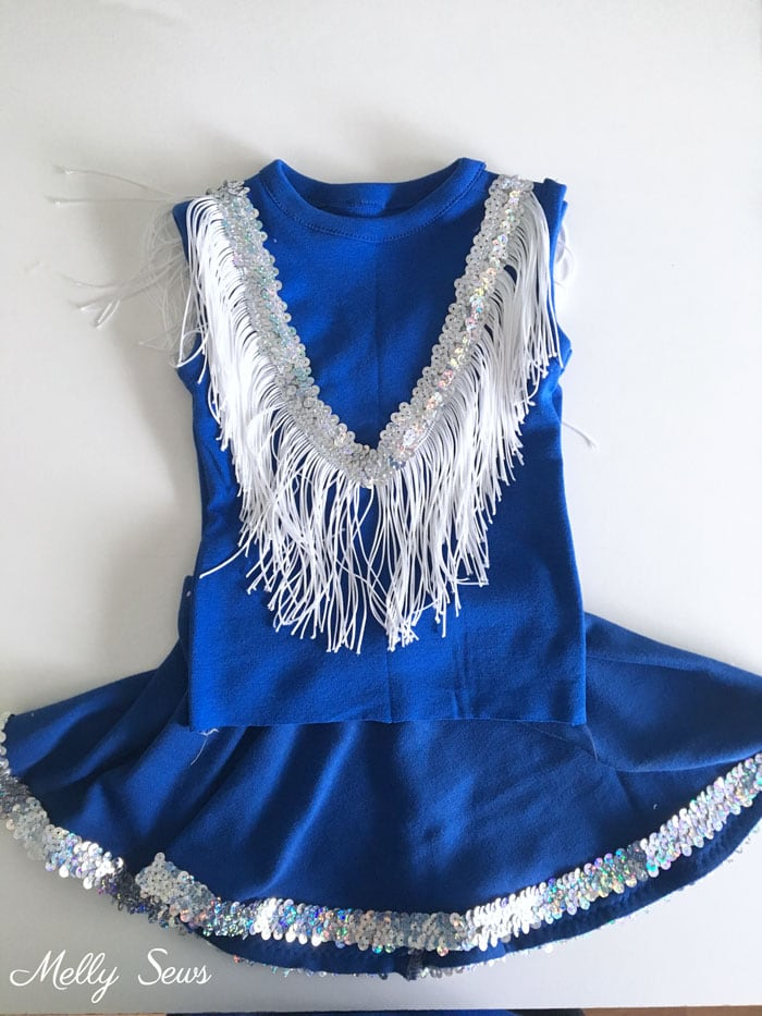 Drill Team Costume - DIY Football Costumes - How to Make a Football Player Costume, How to Make a Cheerleader Costume, How to Make a Dance Squad Costume - Melly Sews Group Halloween Costume
