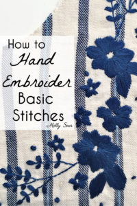 How to Embroider - Basic Hand Embroidery Stitches - How to Back Stitch - How to Sew a French Knot - How to Sew a Satin Stitch - Melly Sews