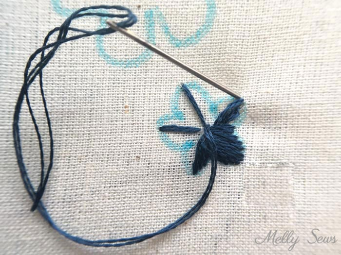 How to Sew a Satin Stitch - - How to Embroider - Basic Hand Embroidery Stitches - Melly Sews