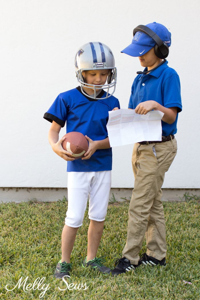 Football coach Costume - DIY Football Costumes - How to Make a Football Player Costume, How to Make a Cheerleader Costume, How to Make a Dance Squad Costume - Melly Sews Group Halloween Costume