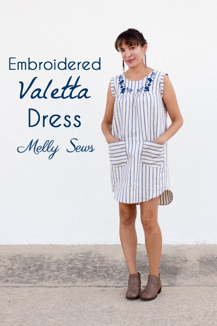 Linen dress from the Valetta pattern by Blank Slate Patterns sewn by Melly Sews