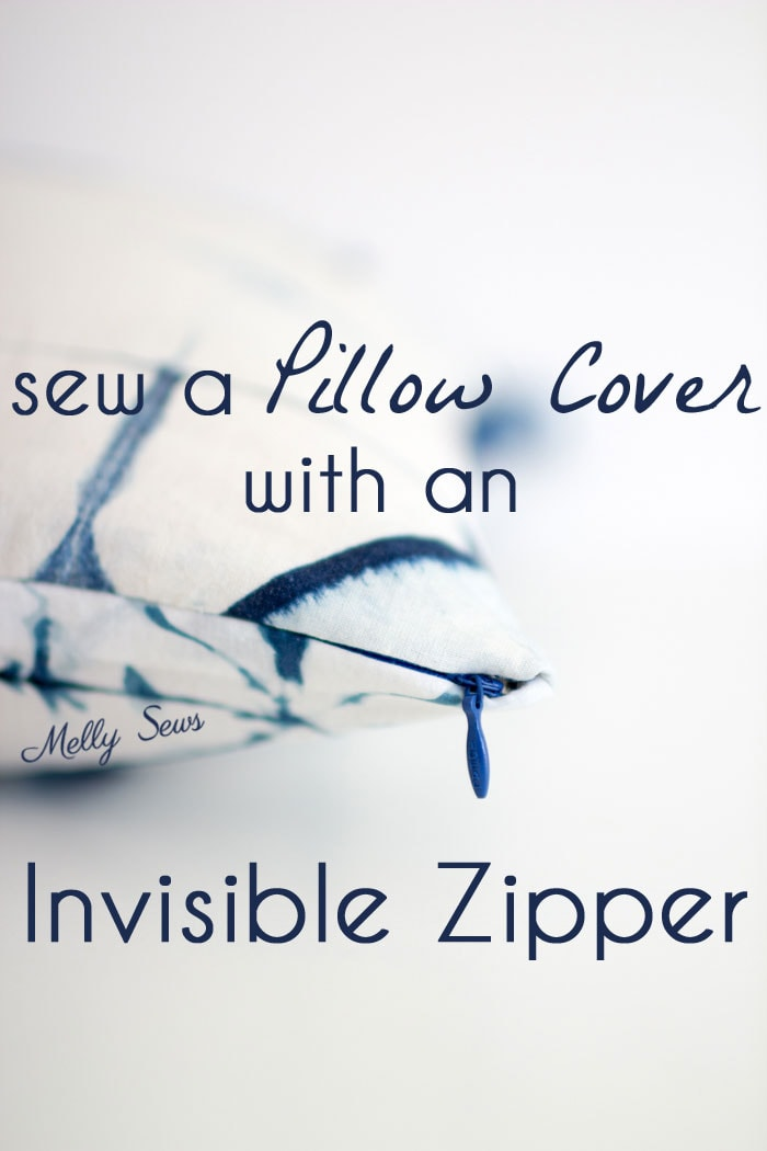 How to Sew an Invisible Zipper Pillow - Pillow Cover with Zipper - Video tutorial by Melly Sews