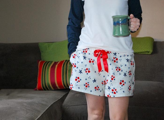 Rivage Raglan and Barton Shorts Blank Slate Sewing Patterns sewn by JessamyB