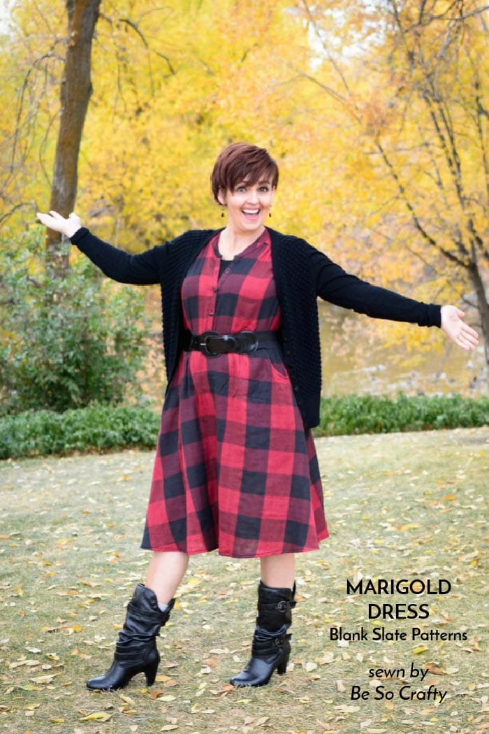 Marigold Dress sewing pattern from Blank Slate Patterns - sewn by Be So Crafty