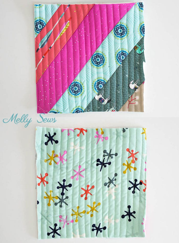Step 6 - Sew a pot holder - quilt as you go - great scrapbuster - easy to make gift - DIY tutorial by Melly Sews