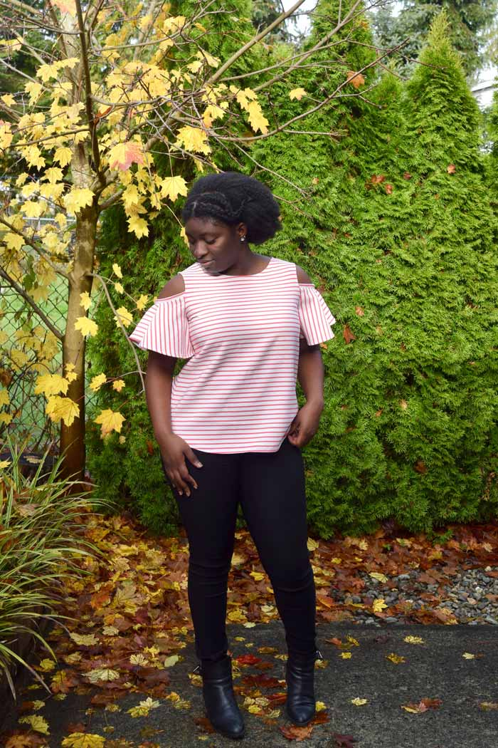 Shoreline Boatneck with sleeve hacks | sewing pattern from Blank Slate Patterns | sewn by The Ravel Out