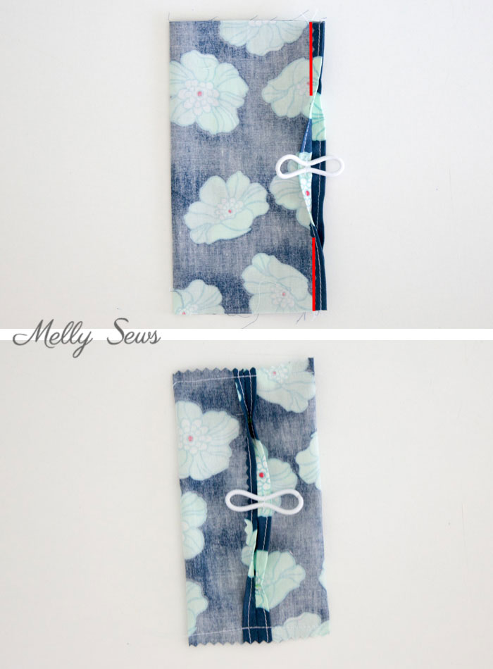 Step 2 - Make a Travel Size Tissue Holder - Great gift for teachers, neighbors, family and co-workers - Video and Tutorial by Melly Sews