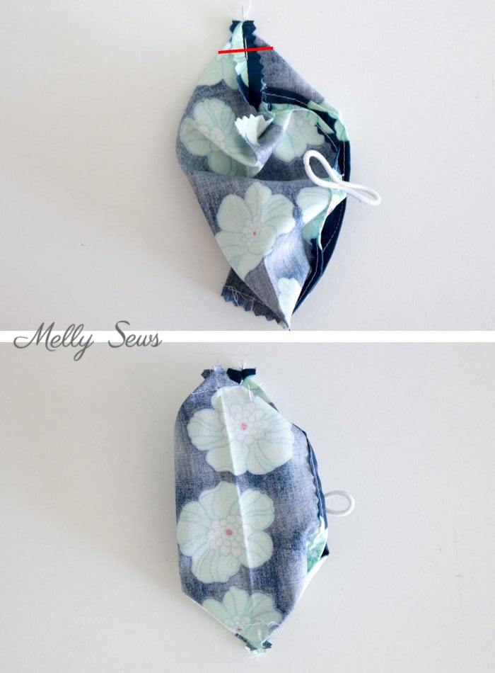 Step 3 - Make a Travel Size Tissue Holder - Great gift for teachers, neighbors, family and co-workers - Video and Tutorial by Melly Sews